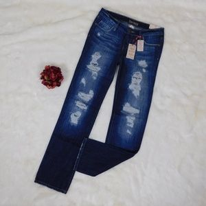 Decree Destructed Jeans Destroyed Straight Leg 5